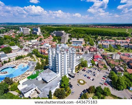 Aerial View Felix Baths Romania Medical Stock Photo 643675183 ...