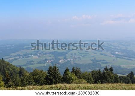 Aerial view of Geneva, Switzerland - stock photo