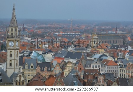 aerial view of gent.