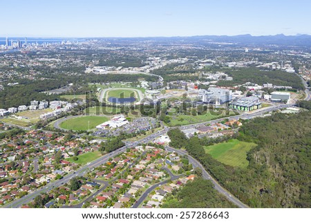 Aerial view of Gold Coast University Hospital on June 16, 2013 in Gold Coast, Australia.