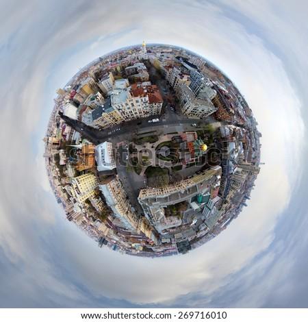 aerial view of Golden Gate in Kiev, Ukraine - stock photo