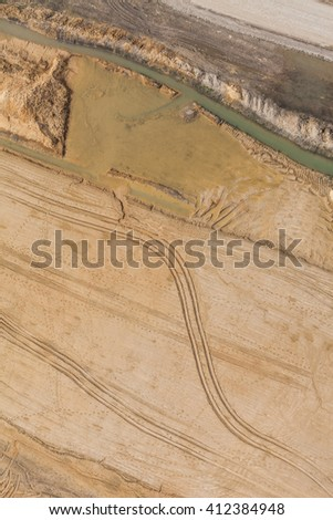 Aerial view of highway  construction site in Poland