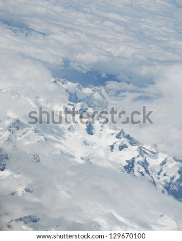 Aerial view of Himalaya Mountain Range