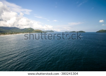 Aerial View of Islands in Sao Sebastiao, Brazil