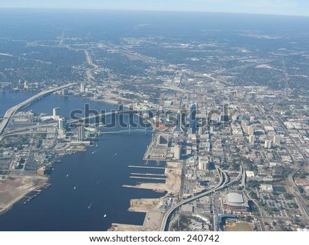 Aerial View of Jacksonville,Fl