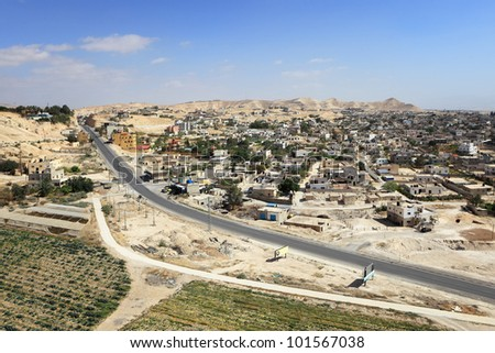 Aerial View of Jericho - stock photo