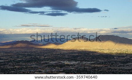 Aerial View of Las Vegas in Nevada - stock photo