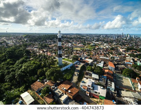 Aerial View of Lighthouse of Olinda, Brazil