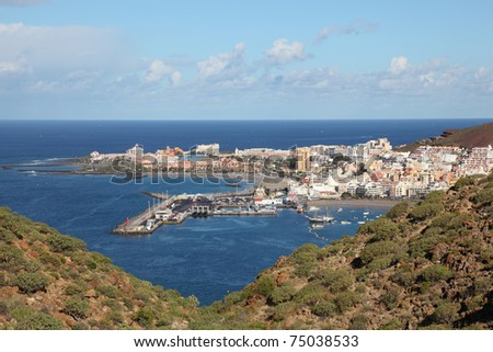 Aerial view of Los Cristianos, Canary Island Tenerife, Spain