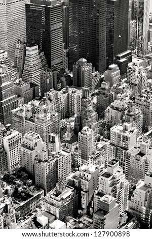 Aerial view of Manhattan, New York City. USA. - stock photo