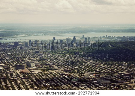 Aerial view of Montreal. Montreal, Quebec, Canada. - stock photo
