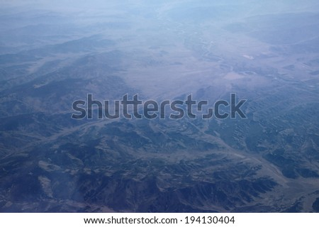 Aerial view of mountains landscape - stock photo