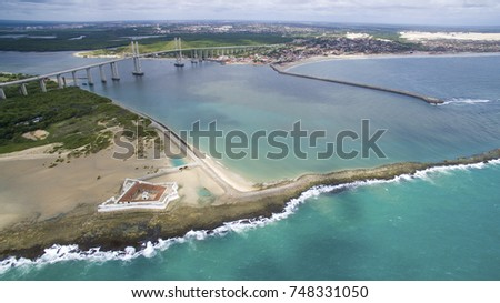 Aerial View of Natal, Rio Grande do Norte, Brazil