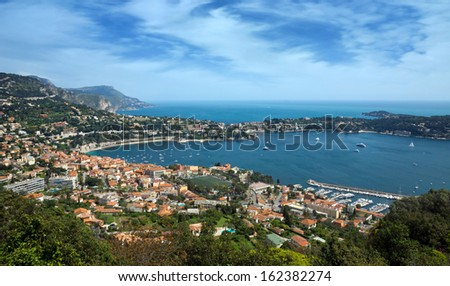Aerial view of neighborhood of the city of Nice, France - stock photo