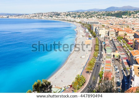 Aerial view of Nice, French Riviera