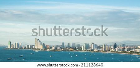 Aerial view of Pattaya City,Thailand      - stock photo