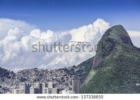 Aerial view of Rio de Janeiro in Brazil - stock photo