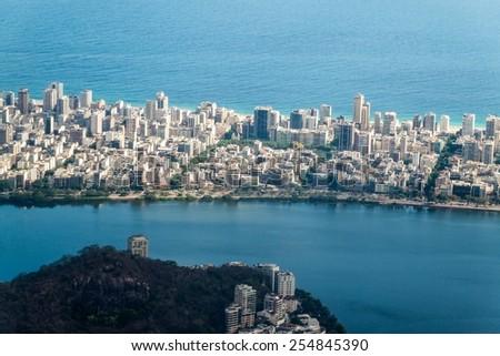 Aerial view of Rio de Janeiro, Ipanema quarter, Brazil - stock photo