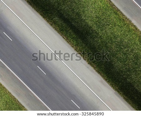 Aerial view of Road and Tree