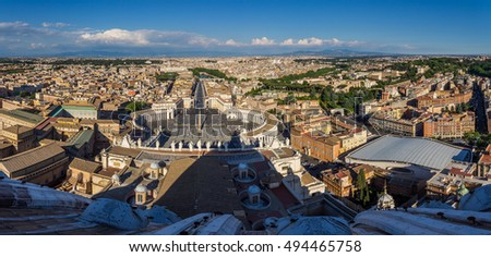 Aerial View of Rome from St. Peter's Basilica