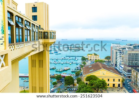 Aerial view of Salvador City in Bahia, Brazil - stock photo