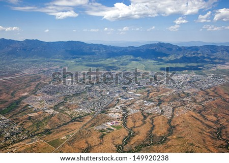 Aerial view of Sierra Vista, Arizona - stock photo