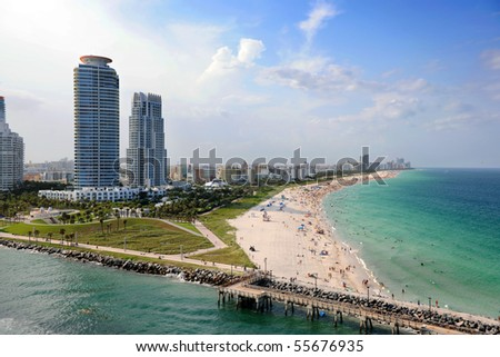 Aerial view of South Miami Beach