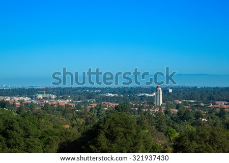 Aerial view of stanford university, california, USA - stock photo