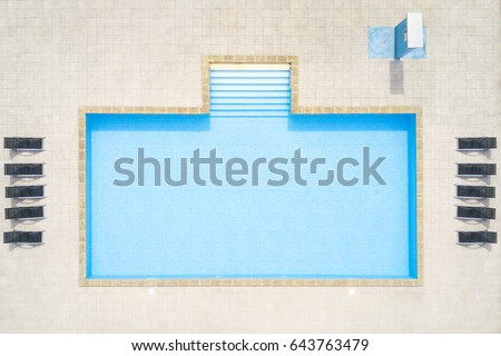 aerial view of swimming pool outside hotel beautiful pool ready to holiday tourists top - Rectangle Pool Aerial View