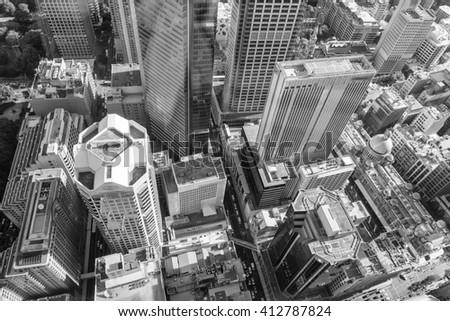 Aerial view of Sydney skyline, Australia. - stock photo
