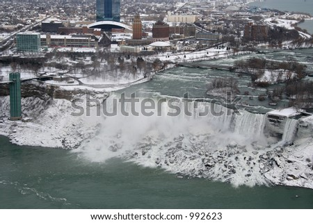 Aerial View of the American Niagara Falls - stock photo