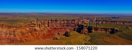 aerial view of the Grand Canyon - stock photo