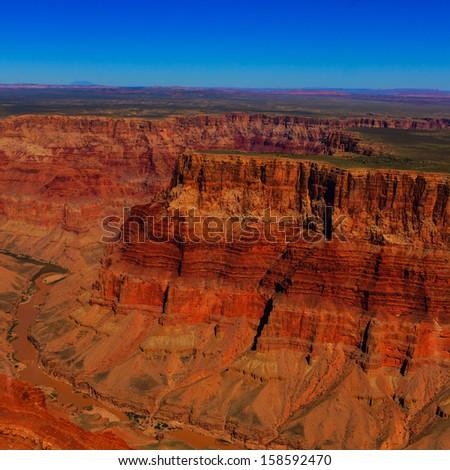 aerial view of the Grand Canyon, Arizona - stock photo