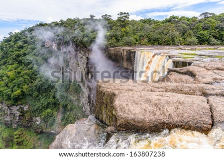 Aerial view of the  Kaieteur NAtional Park, Guyana, South America - stock photo