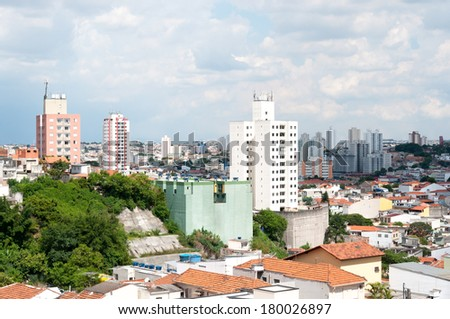 Aerial view of the neighborhood of Penha, Sao Paulo