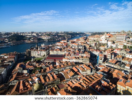 Aerial view of the Porto, Portugal