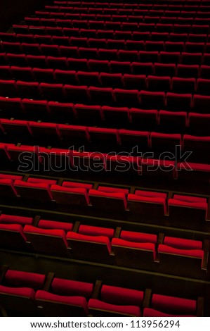 Aerial view of theater seats - stock photo