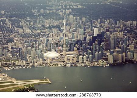 Aerial view of Toronto. Toronto, Ontario, Canada - stock photo