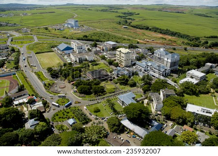 Aerial view of University of Mauritius and Education hub