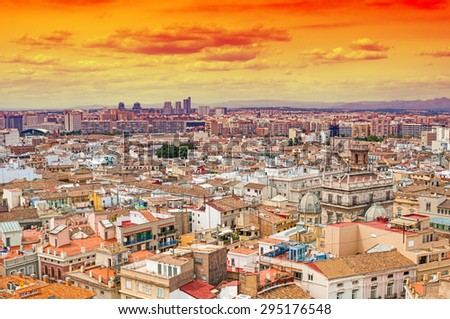 Aerial view of Valencia, Spain
