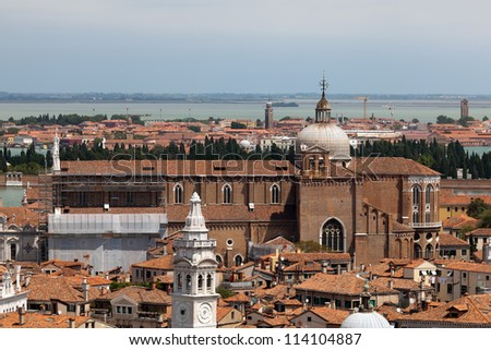Aerial view of Venice from the Campanile in Piazza San Marco