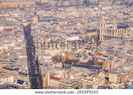 Aerial View on Paris, France