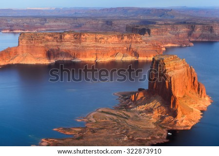 Aerial view on the Northern part of the Grand Canyon, Arizona