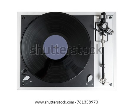 Vinyl Player, Top-Down View - Shutterstock