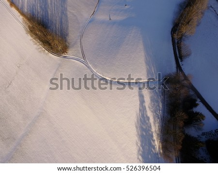 aerial winter landscape