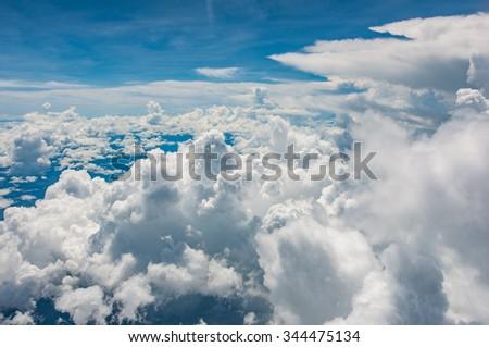 Aero plane eye view  - stock photo