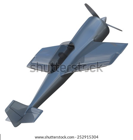 Aerobatic aircraft isolated on white - stock photo