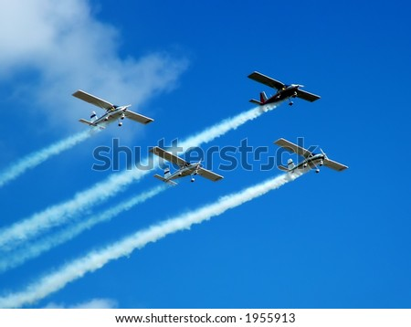 Aerobatic formation and display during the Malta International Airshow