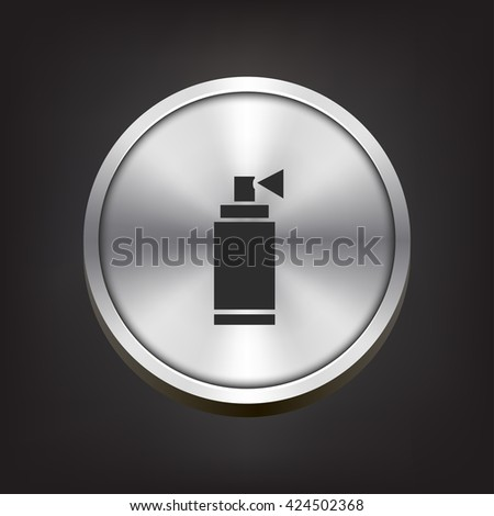 aerosol icon. aerosol sign - stock photo