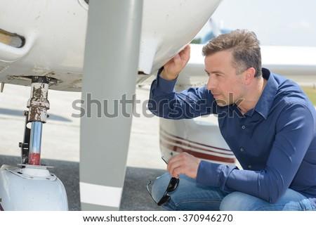 aerospace engineer - stock photo